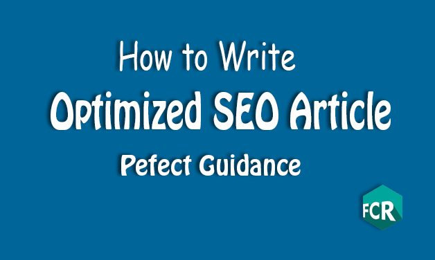 The complete guide to optimizing SEO Article!