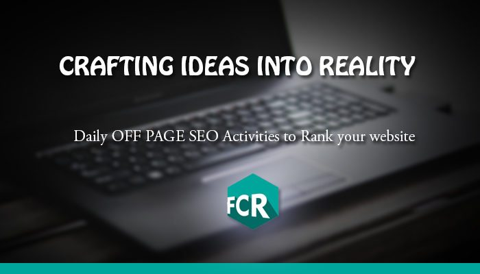 off page SEO activities